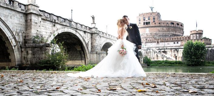 flavia e daniele a Castel Sant'angelo foto matrimonio roma
