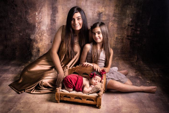 foto di famiglia di Valentina, Greta e Sofia